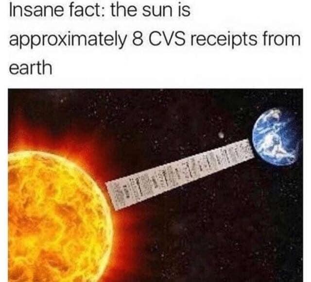 8 CVS receipts